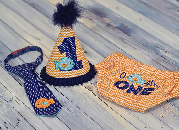 O-FISH-ALLY One Cake Smash Outfit  Little Guy Tie by FreshForHim