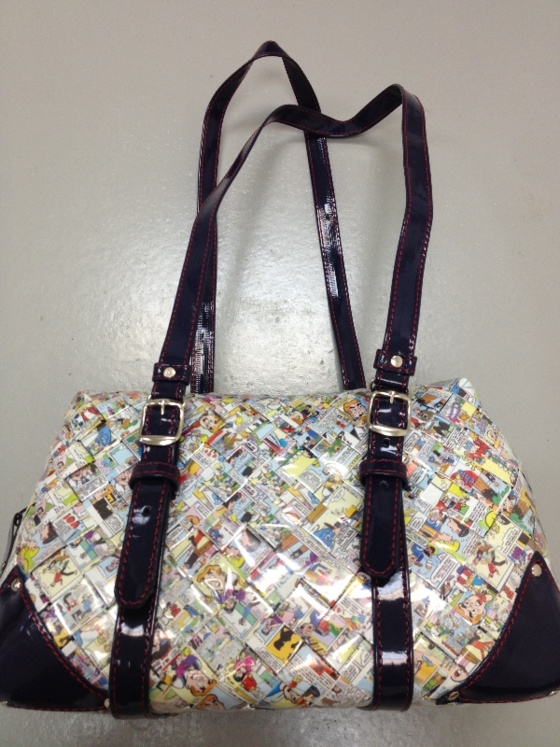 Nahui Ollin Camera bag wristlet coin purse Candy wrappers recycle carry clutch $130.00