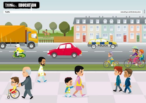 Early childhood: Think! Resource Centre for children aged under 5. Download lesson packs for preschoolers on topics such as crossing the road safely with an adult, being seen, and how to behave near traffic. Includes posters, stories, pictures and activities. From the UK Department of Transport.