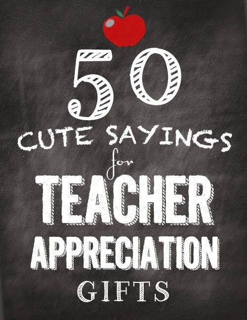Sassy Style: Teacher Appreciation Gifts