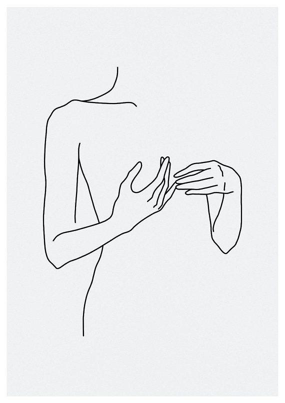9850567262c2e sketch #46, LINE ART PRINT, minimalist, line art, Woman Print ...