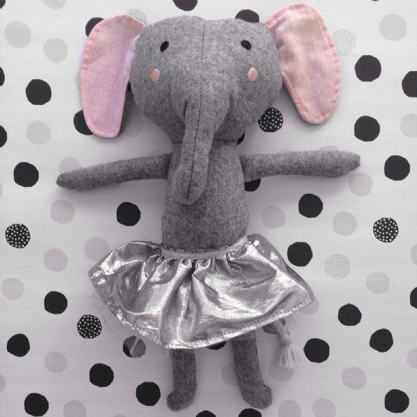 Edwina is an elephant with princess aspirations. The perfect size to snuggle. Edwina will keep your child entertained for hours. #softtoy #kids #play #thelittlehaven