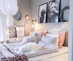 #bedroom #girl #pink #gray #fairy #lights #bedroom #cute #ideas #home #living #bed #wall #pictures