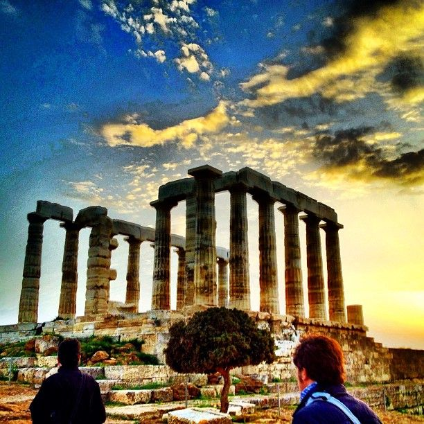 Poseidon's Temple sits far south on the Attica peninsula overlooking the Aegean sea
