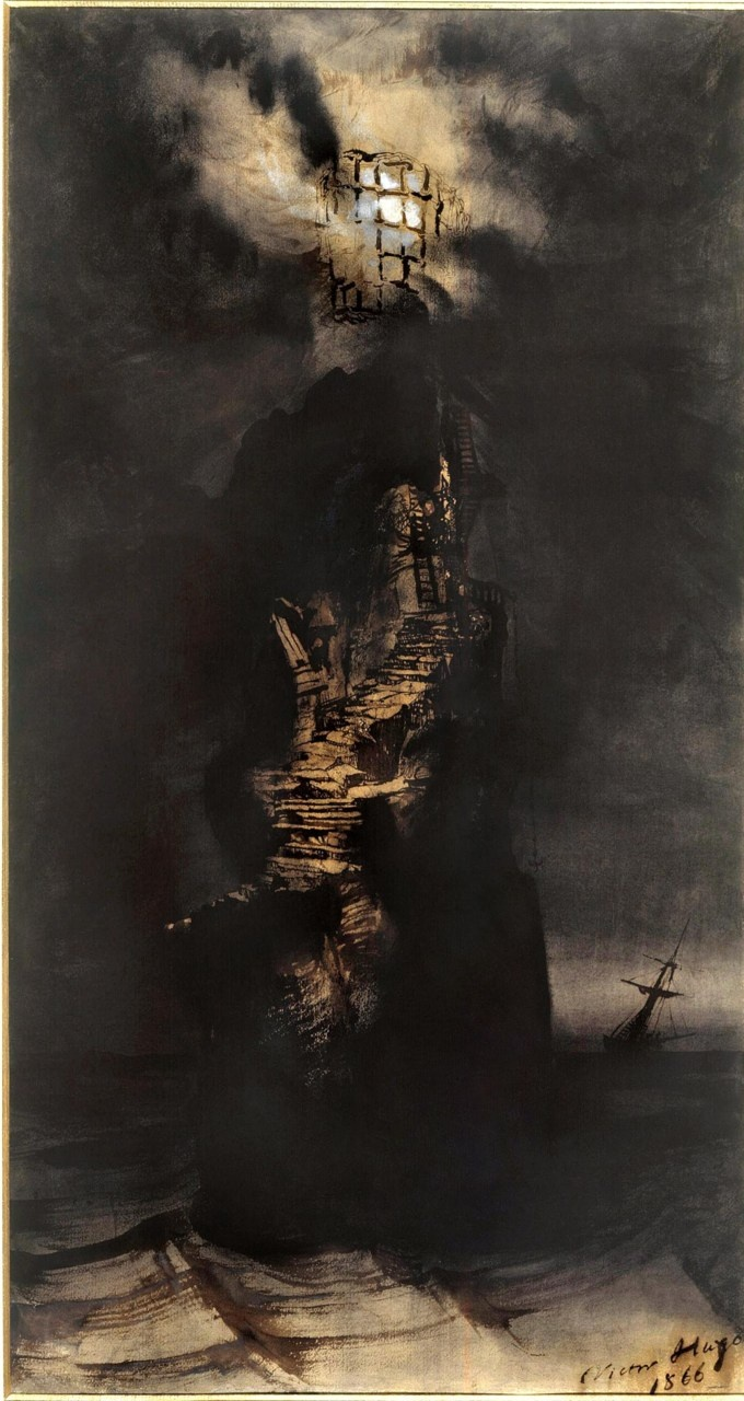 Le Phare des Casquets, 1866 by Victor Hugo