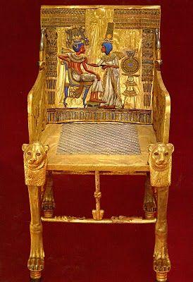 "Tutankhamun's throne ~ Miks' Pics ""Ancient Egypt"" board @ http://www.pinterest.com/msmgish/ancient-egypt/"