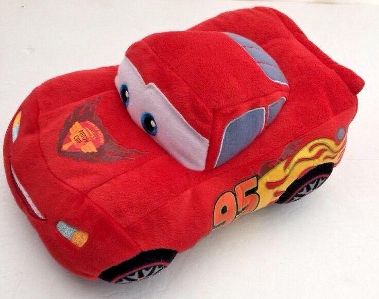 "Disney Cars Lightning Mcqueen Red Race Car Plush Stuffed Animal Soft Toy 11"" EUC  | eBay"