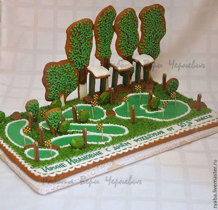 Купить Пряничный гольф-клуб - пряник, расписные пряники, козули, Архангельские Козули, имбирное печенье