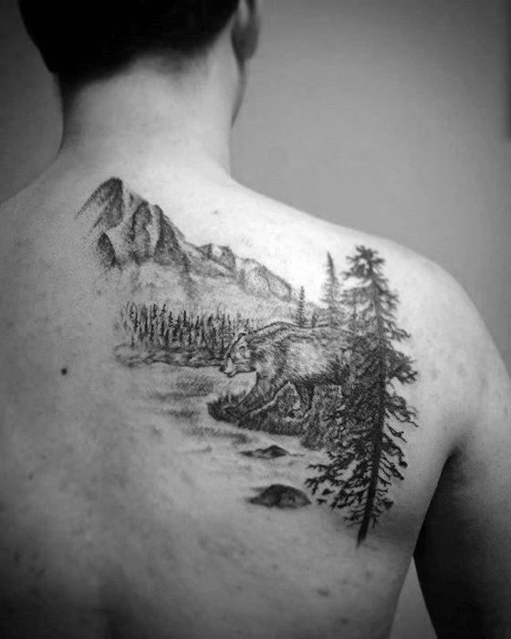 50 Fluss Tattoos für Männer – fließende Wasser Tinte Ideen