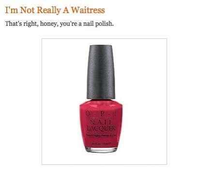 The 'Stupid Nail Polish Names' Blog Will Get You Giggling #nails trendhunter.com