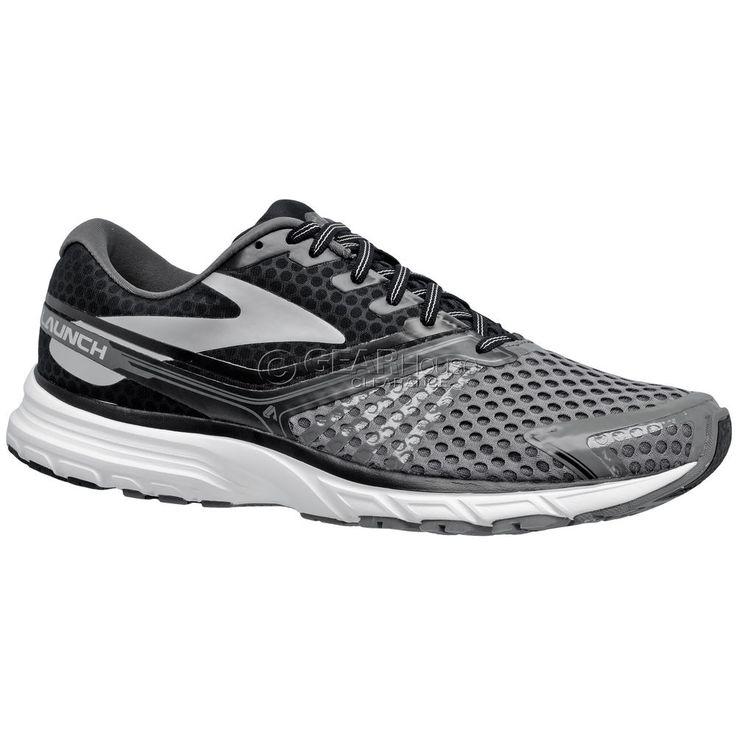 New Brooks Launch 2 Mens Running Shoes - Black / Gray #Brooks #RunningCrossTraining