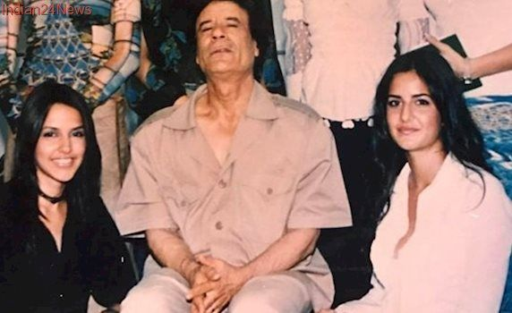 Katrina Kaif posing with Libyan dictator Muammar Gaddafi is taking us back to her modelling days. See throwback photo