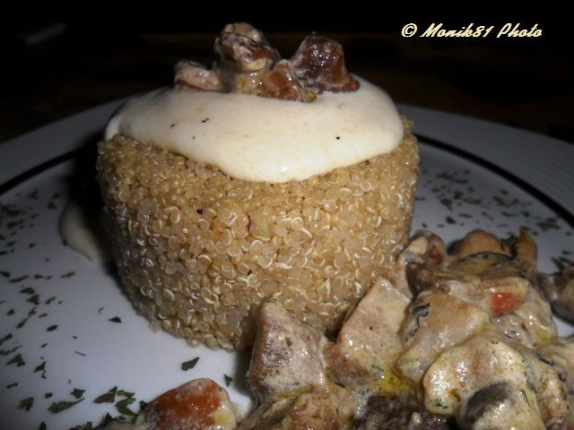 Quinoa al profumo di tartufo con fonduta di Asiago e funghi porcini
