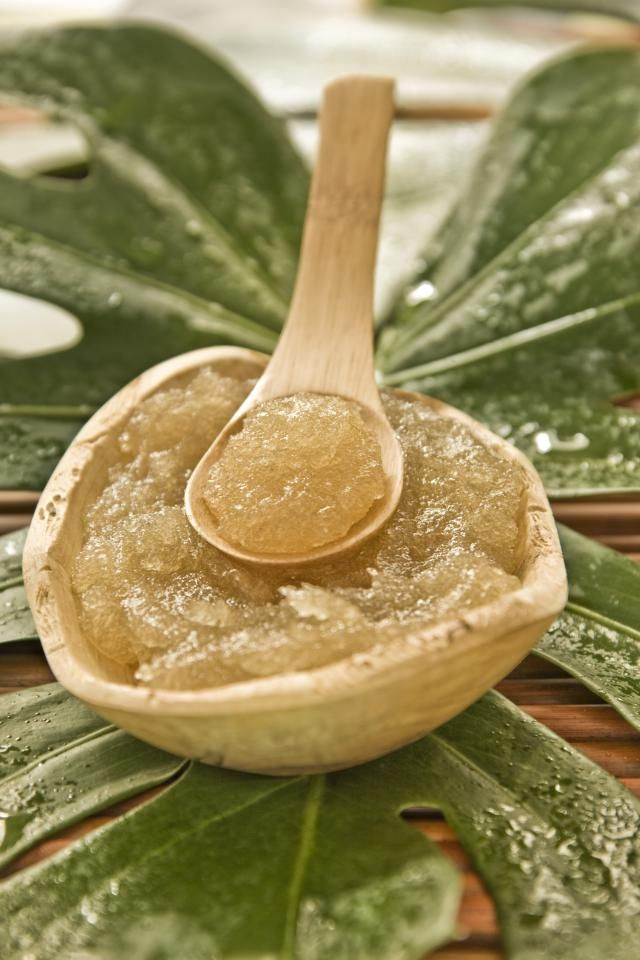 Brown Sugar Facial Scrub With Honey:1/2 cup manuka honey (or plain honey if you have no idea what manuka honey is) 1/2 cup brown sugar (basic refined white sugar works in a pinch) 1 tbsp olive or coconut oil 1 drop of your favorite essential oil (lavender, jasmine, rose, geranium, bergamot are all nice)