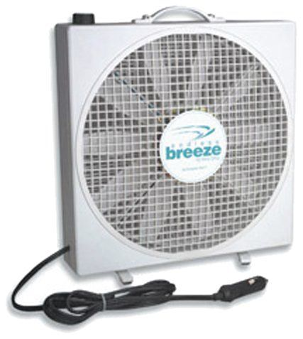 Fan-Tastic Vent 01100WH Endless Breeze 12V Fan _ Price: $77.11 & FREE Shipping _ Instant air flow     Portable. Free-Standing. Compact. Light-Weight (under 5 pounds). Power Draw _ Low: 15 Watts or 1.25 amps @ 12 VDC. Medium: 27 Watts or 2.25 amps. High: 35 Watts or close to 3 amps.