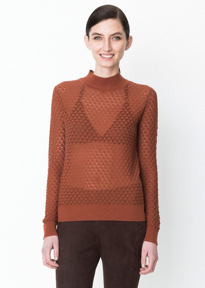 Storm & Marie Bluse rust 22071 Elena TN Turtleneck strik - ginger bread – Acorns