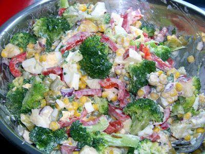 Moje Małe Czarowanie: Sałatka z brokułami