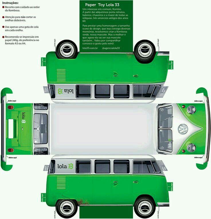 VW Kombi Paper Cutout