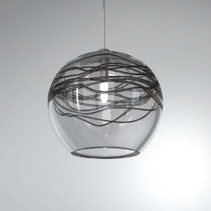 Seltia Aire - Hanging glass pendant darker shade decor