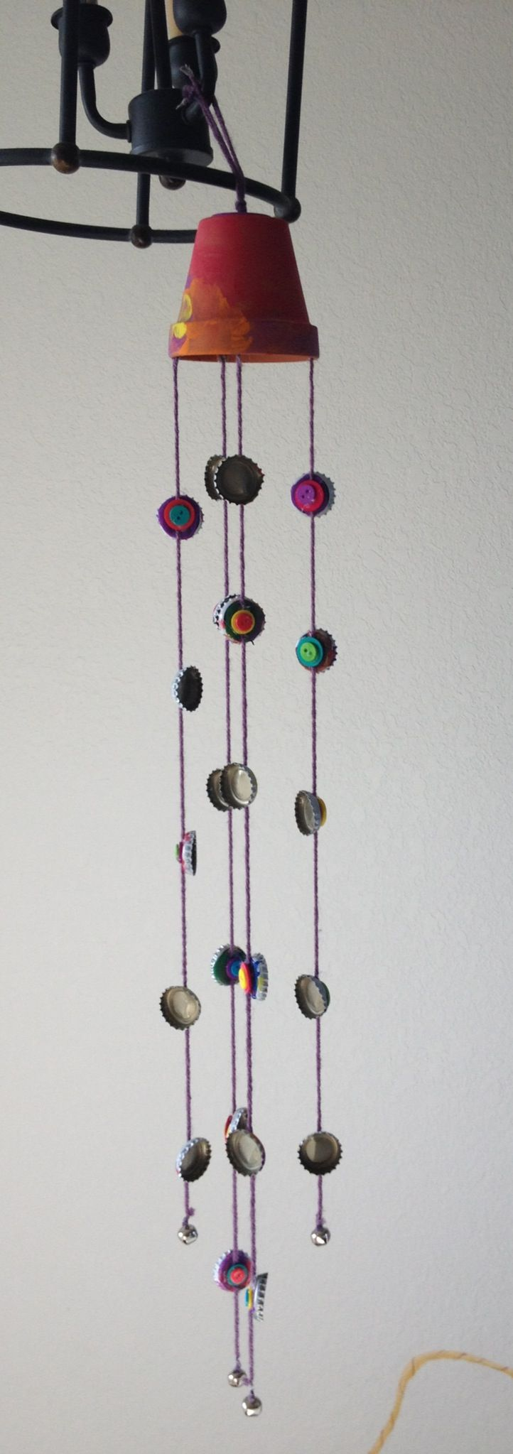 Homemade wind chime easy fun project to do with kids for Wind chime craft projects