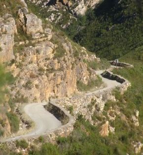 Montagu Pass between Herold and George in South Africa. In 1844, some 250 convicts started with the construction of the pass and it was opened for traffic in December 1847.