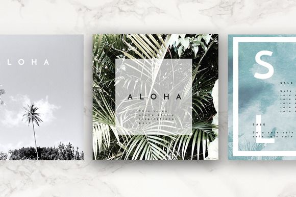 SALE! Social Pack 8 InstagramLayouts by Aloha Philly on @creativemarket