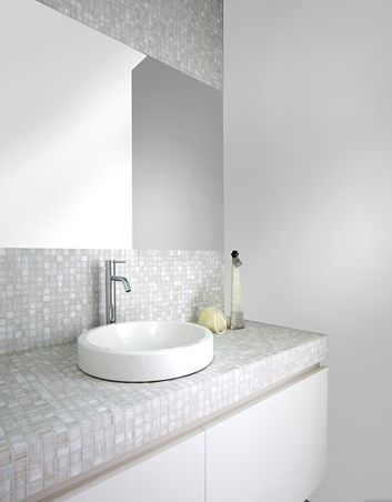 85 best images about g ste wc on pinterest toilets mirror cabinets and glass mosaic tiles - Mozaiek tegel badkamer ...
