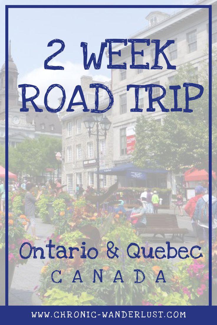 Quebec Ontario 2 week itinerary road trip canada
