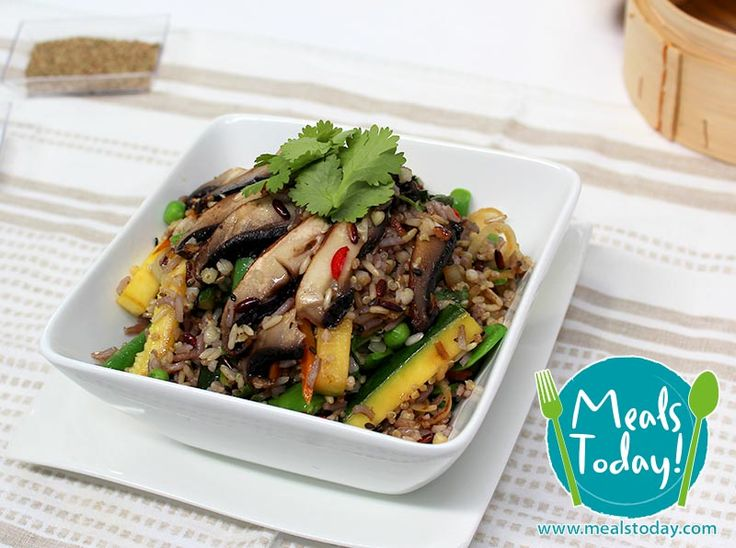 Stir Fried Firecracker Rice with Green Beans, Zucchini, Carrot and Chilli  Available to order now, for delivery on Tue 16th September  www.mealstoday.com    #mealstoday
