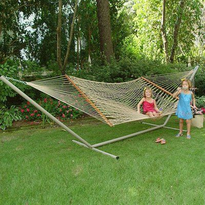 Castaway Hammocks PC-14P 13-ft Deluxe Polyester Rope Hammock