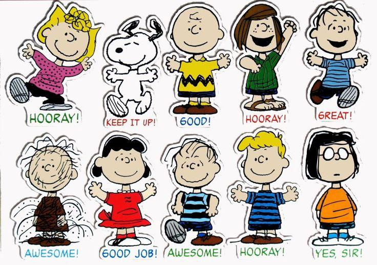 peanuts characters | Giant Peanuts Characters Motivational Bulletin Board Wall Decor Set