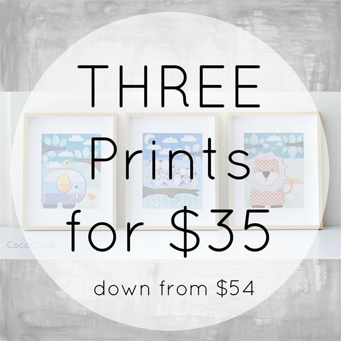 Set of THREE Prints 8x10 by CocoCooie | MadeIt.com.au Ready to ship