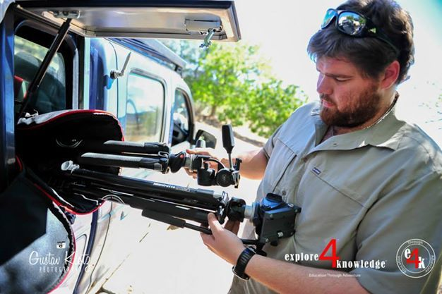 @manfrottopins #ImagineMore #Tripods being taken from the #Ford #Ranger by @JohnLucas_co_za while on assignment with #explore4knowledge #e4k_productions filming the #e4k_CinderellaStory for the #Endangered #Wildlife #Trust in #South #Africa