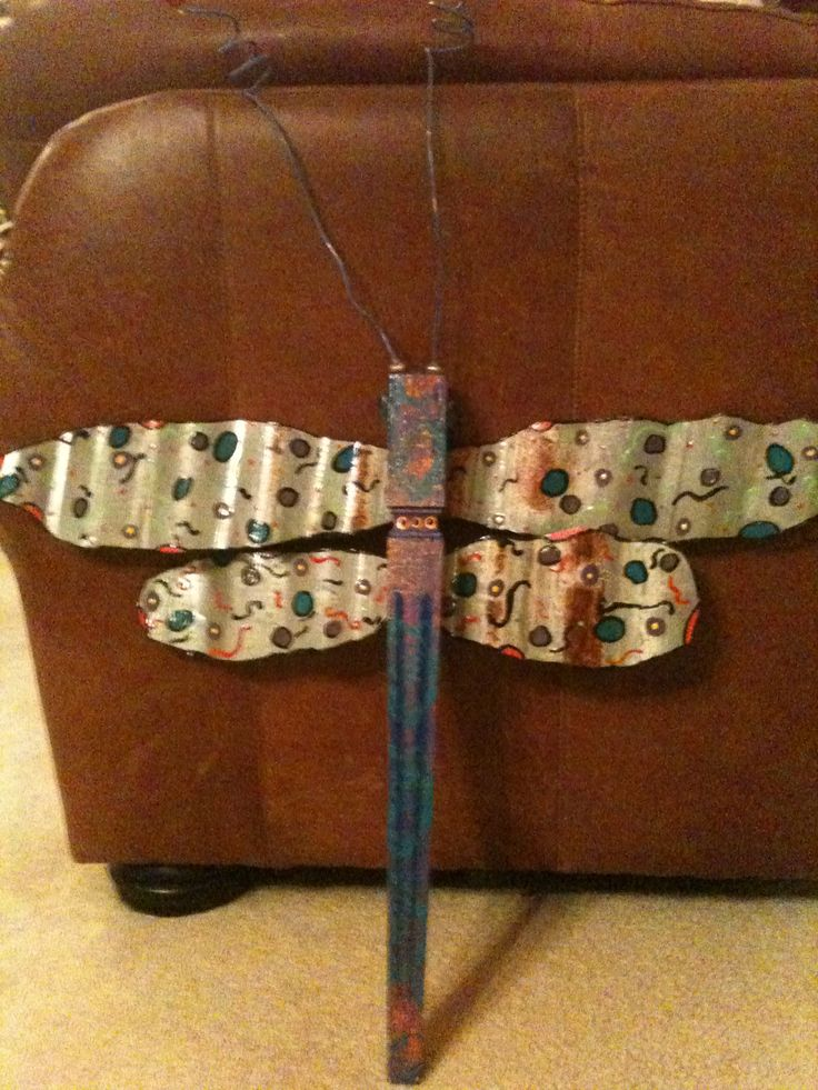 Recycled Items Dragonfly