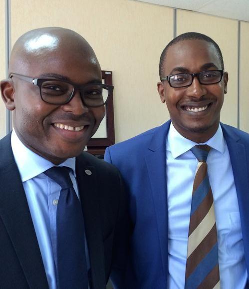 Wilfred Bocco and Fabrice Munyakazi from Ecobank, Rwanda
