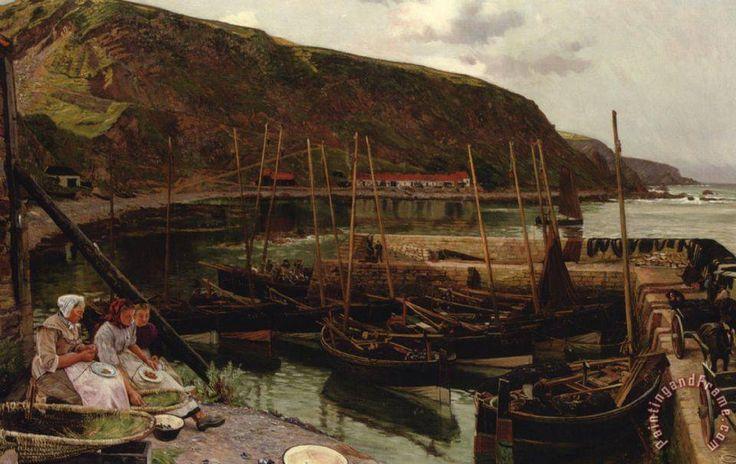 Charles Napier Hemy Burnmouth Berwickshire painting - Burnmouth Berwickshire print for sale