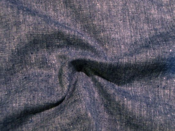 Navy and White Tweedy Linen and Cotton by fabricsandtrimmings, $11.95