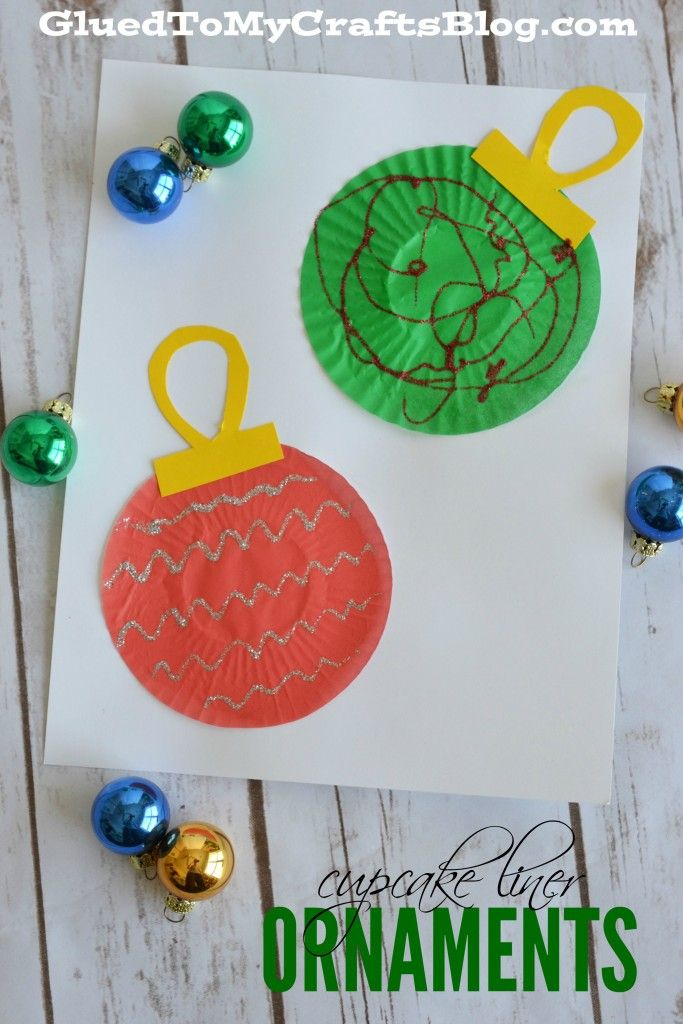 Cupcake Liner Ornaments - Kid Craft