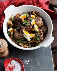 Chicken Livers with Caramelized Onions and Madeira Recipe on Food & Wine
