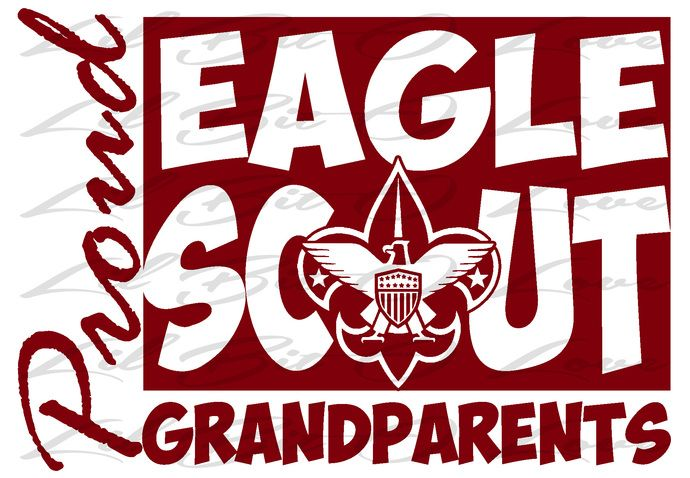 Proud Eagle Scout Grandparents Vinyl Decal EGA Sticker Boy Scouts of America Eagle Scout BSA by LilBitOLove, $4.98 USD