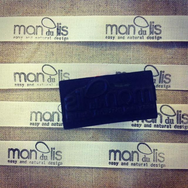 LABELS.  #mandulis #bags #labels #firm #stamp #ink #fabricink #brand #brands #branding #handmade #handcraftedinitaly #makebrand