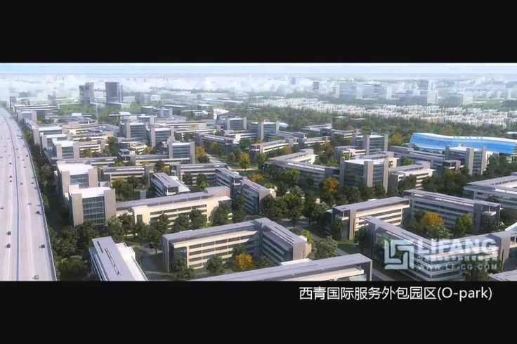 Large Scale Commercial 3D Urban Masterplan Architectural CGI Visualization
