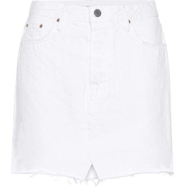 Grlfrnd Milla Skirt ($185) ❤ liked on Polyvore featuring skirts, white, short white skirt, white skirt and short skirt