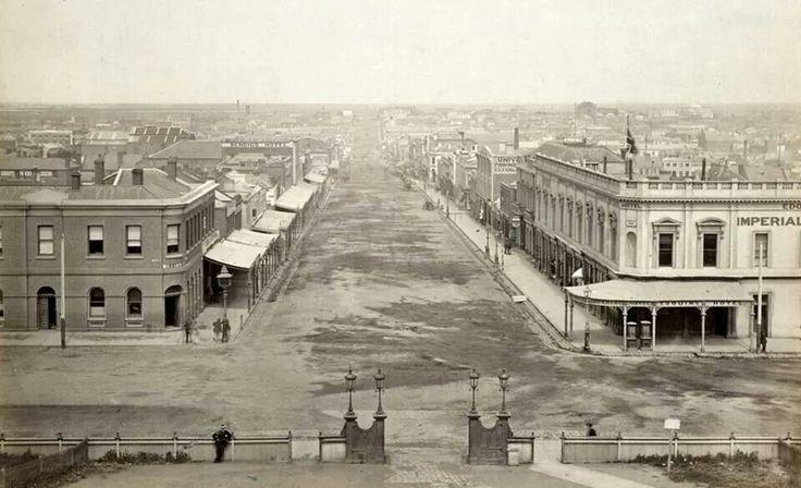 Bourke St from Parliament House 1870 Photographer Charles Nettleton