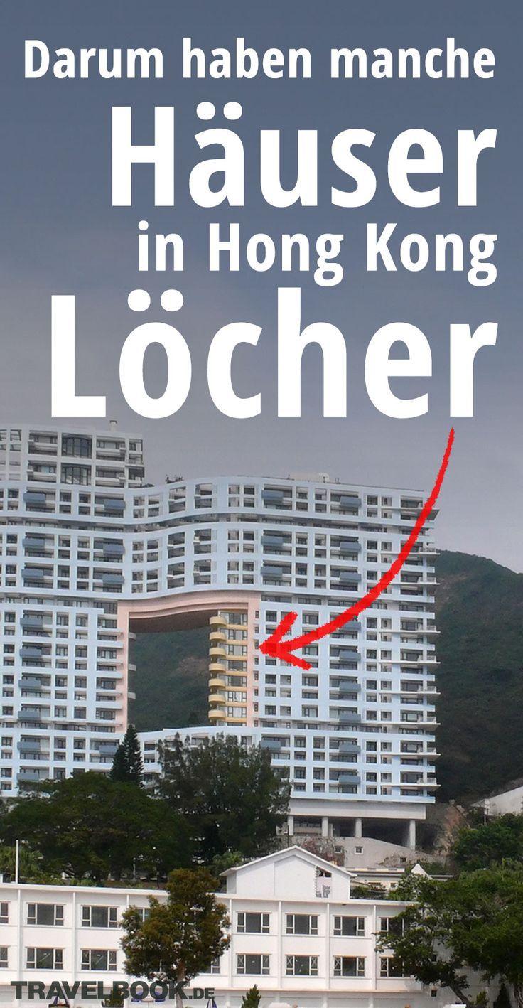 War hier etwa das Baumaterial knapp? In der chinesischen Millionenmetropole Hongkong stehen mehr als 1300 Wolkenkratzer – und einige von ihnen haben gigantische Löcher. Das die nicht zufällig da sind oder einfach zugemauert werden, sondern so gewollt sind, liegt an einem alten, chinesischen Glauben.