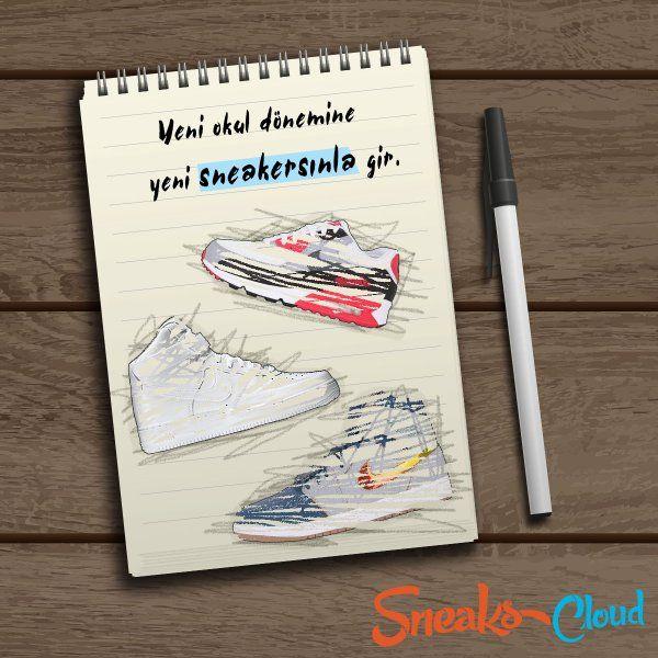 Yepyeni sneakers demek yepyeni heyecanlar demek!   http://Sneakscloud.com  'a göz atmayı unutma ;)
