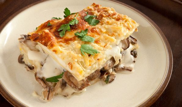 Creamy Mixed Mushroom Lasagna