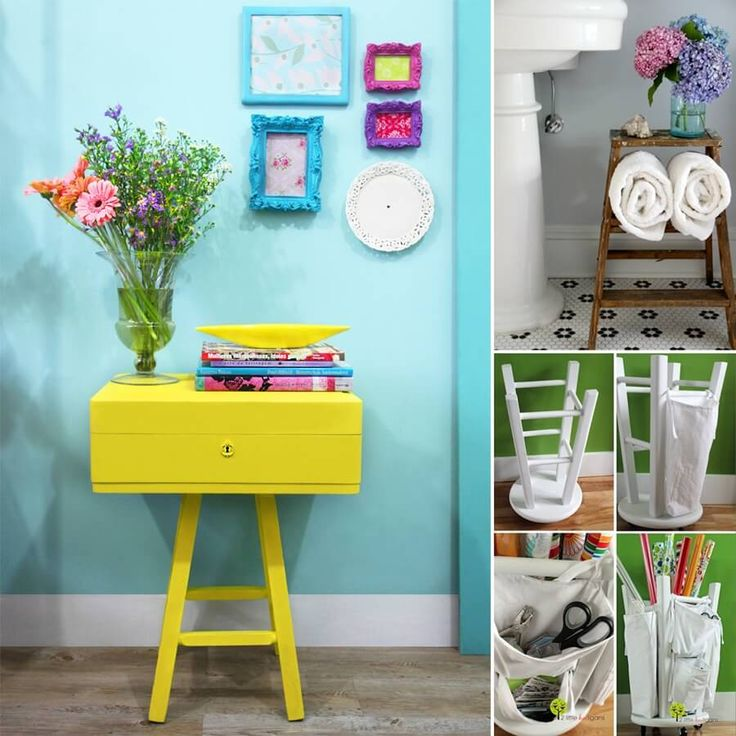 15 Clever Ideas to Recycle Old Bar Stools - http://www.amazinginteriordesign.com/15-clever-ideas-to-recycle-old-bar-stools/