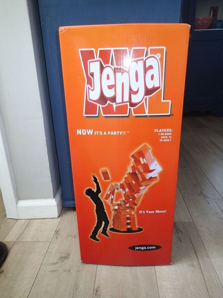 JENGA XXL Gigantic Cardboard Edition Game Seen On Ellen Degeneres 8 Feet Tall  | eBay