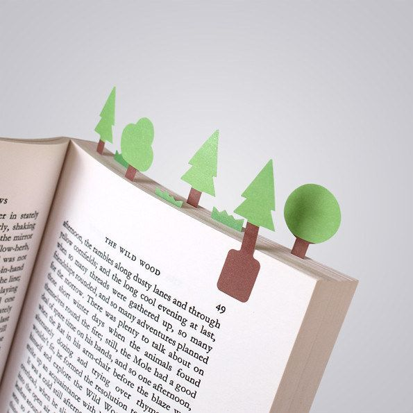 Tree Sticky Page Markers. | Community Post: 21 Gifts For The Hipster In Your Life